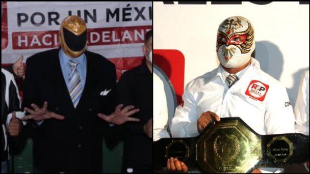 Del ring a la política; este partido recluta a luchadores Tinieblas y  Carístico: FOTOS   El Heraldo de México