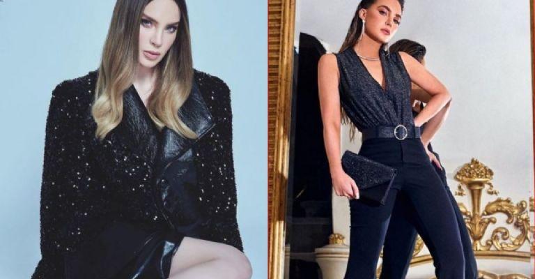 Belinda es la reina del look total black; úsalo con tanto estilo y elegancia como ella