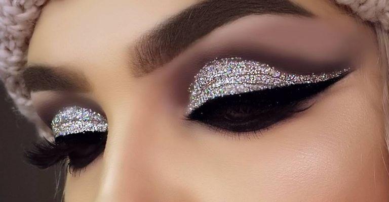 Sombras brillantes, la opcin ideal para destacar tu mirada y tener un look muy chic esta Navidad