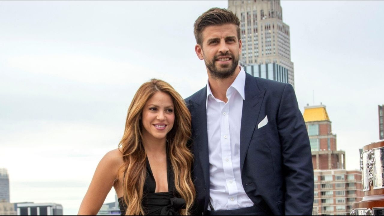 The romantic message from Shakira to Piqu;  derraman meal: PHOTO