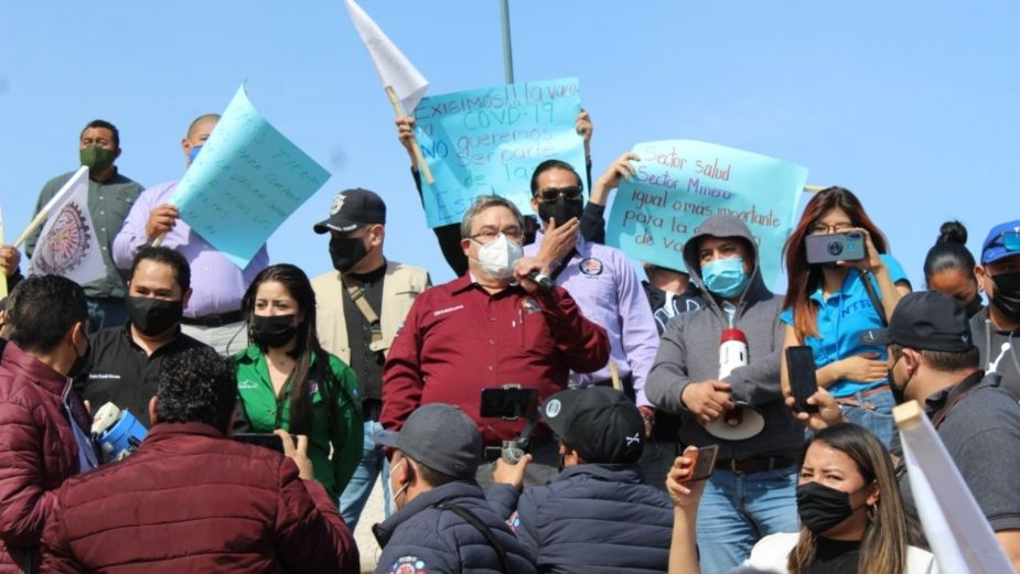 Miners demand application of vaccine against Covid-19 in Zacatecas