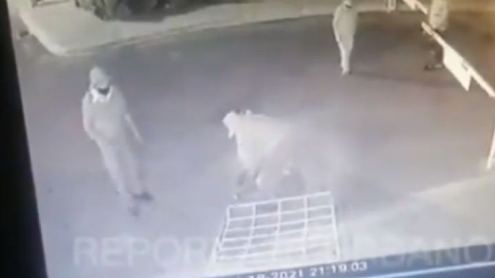 VIDEO VIRAL: Sujetos agreden a guardias de seguridad y apuñalan a perrito
