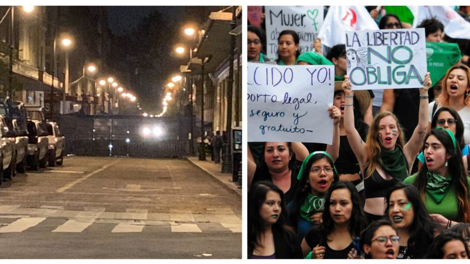 Zócalo blindado por la marcha feminista que se realizará esta tarde