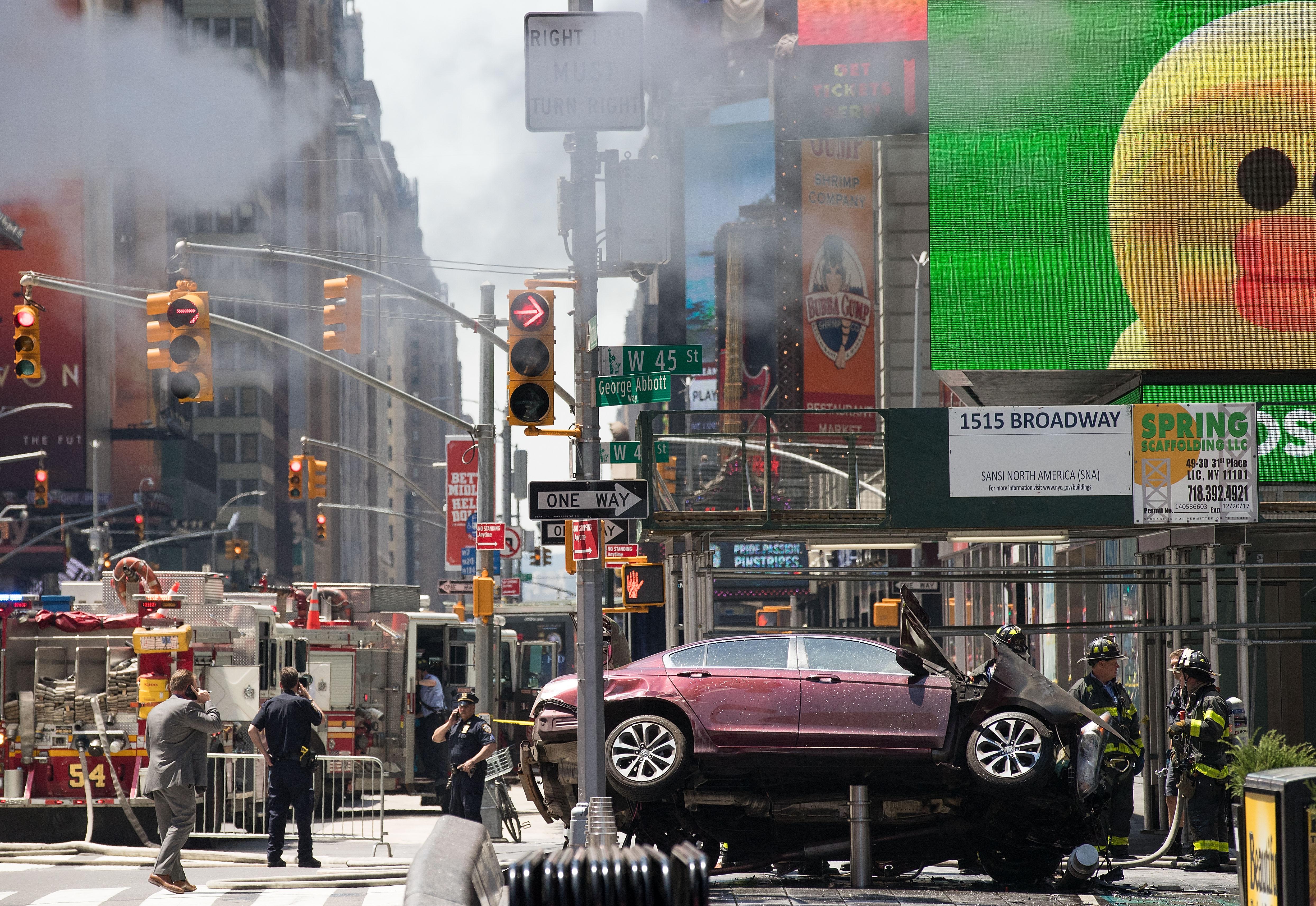 Conductor de Times Square, con antecedentes de manejar alcoholizado