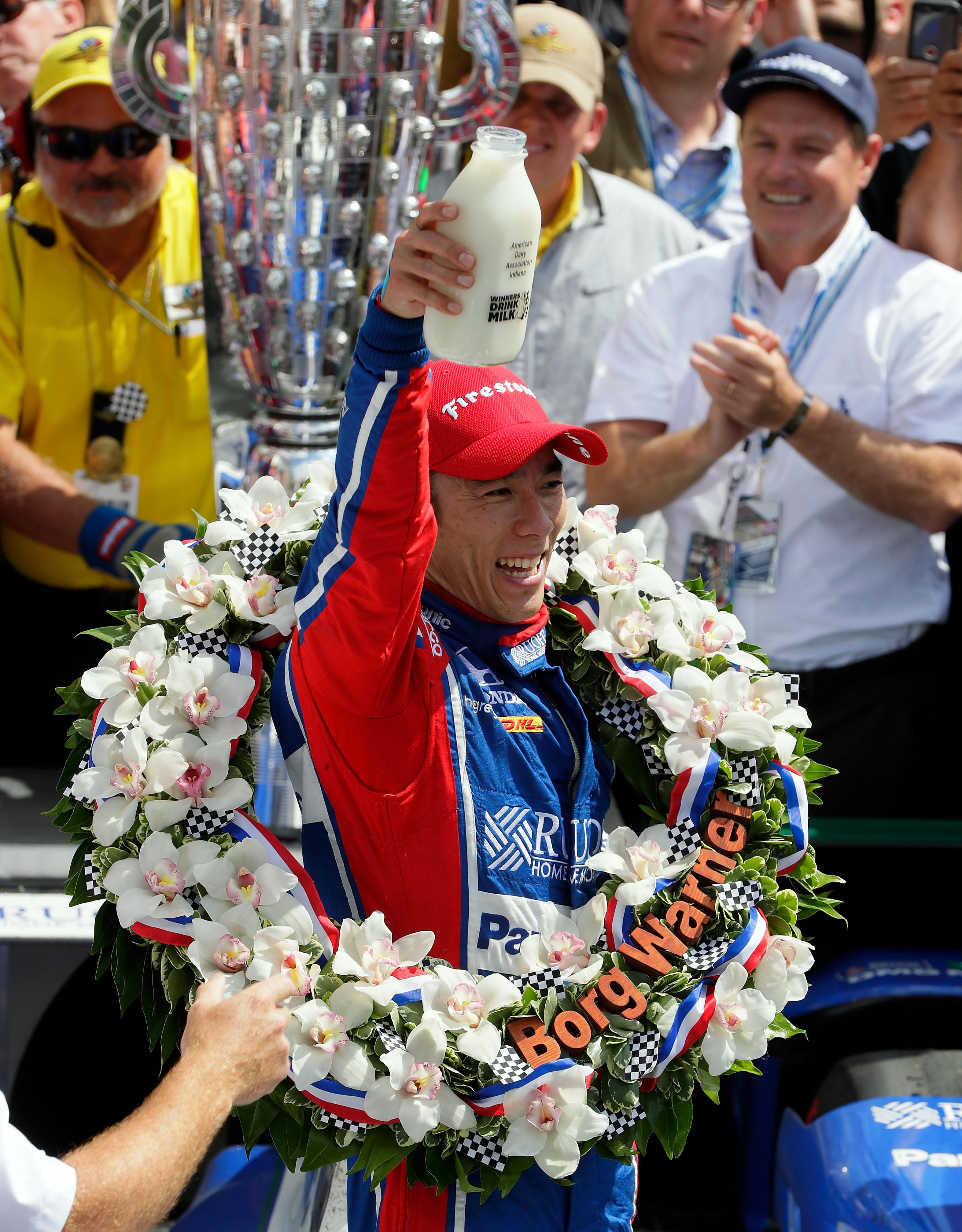 Takuma Sato gana la carrera de Indianapolis. Jamie Squire/Getty Images/AFP