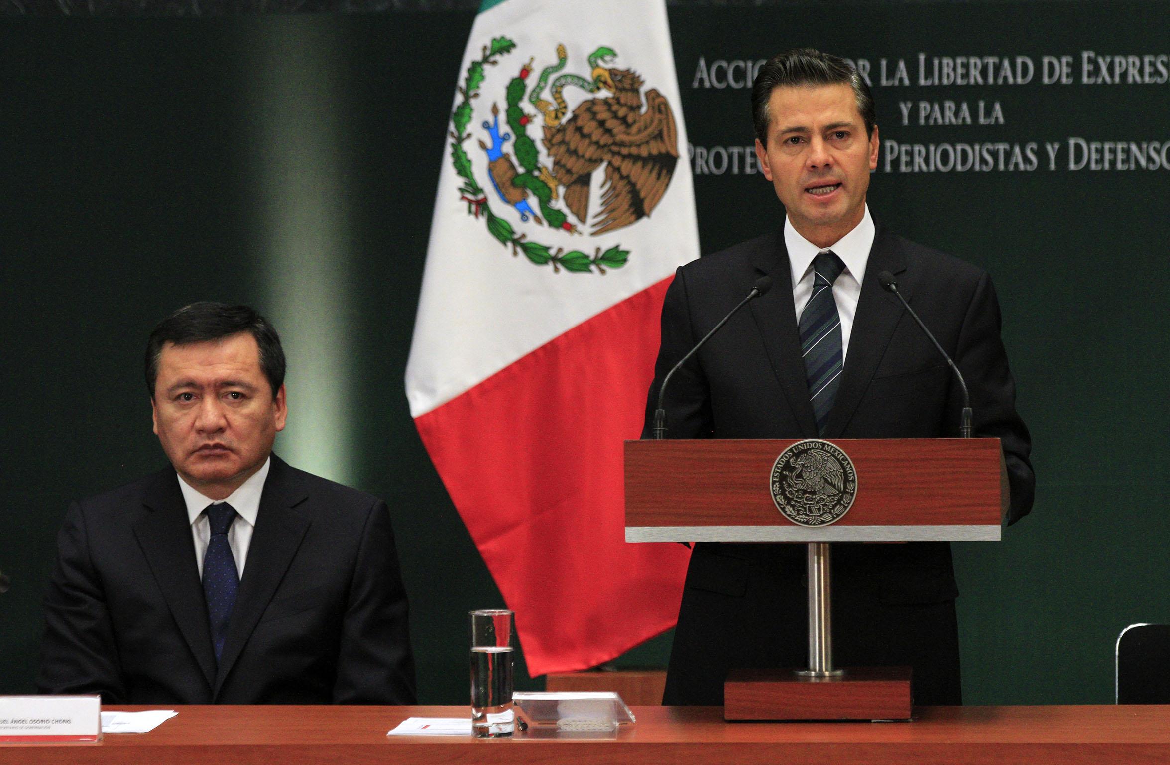 El presidente Enrique Peña Nieto presentó las Acciones por la Libertad de Expresión y para la Protección de Periodistas y Defensores de Derechos Humanos, ante los crímenes cometidos contra comunicadores.