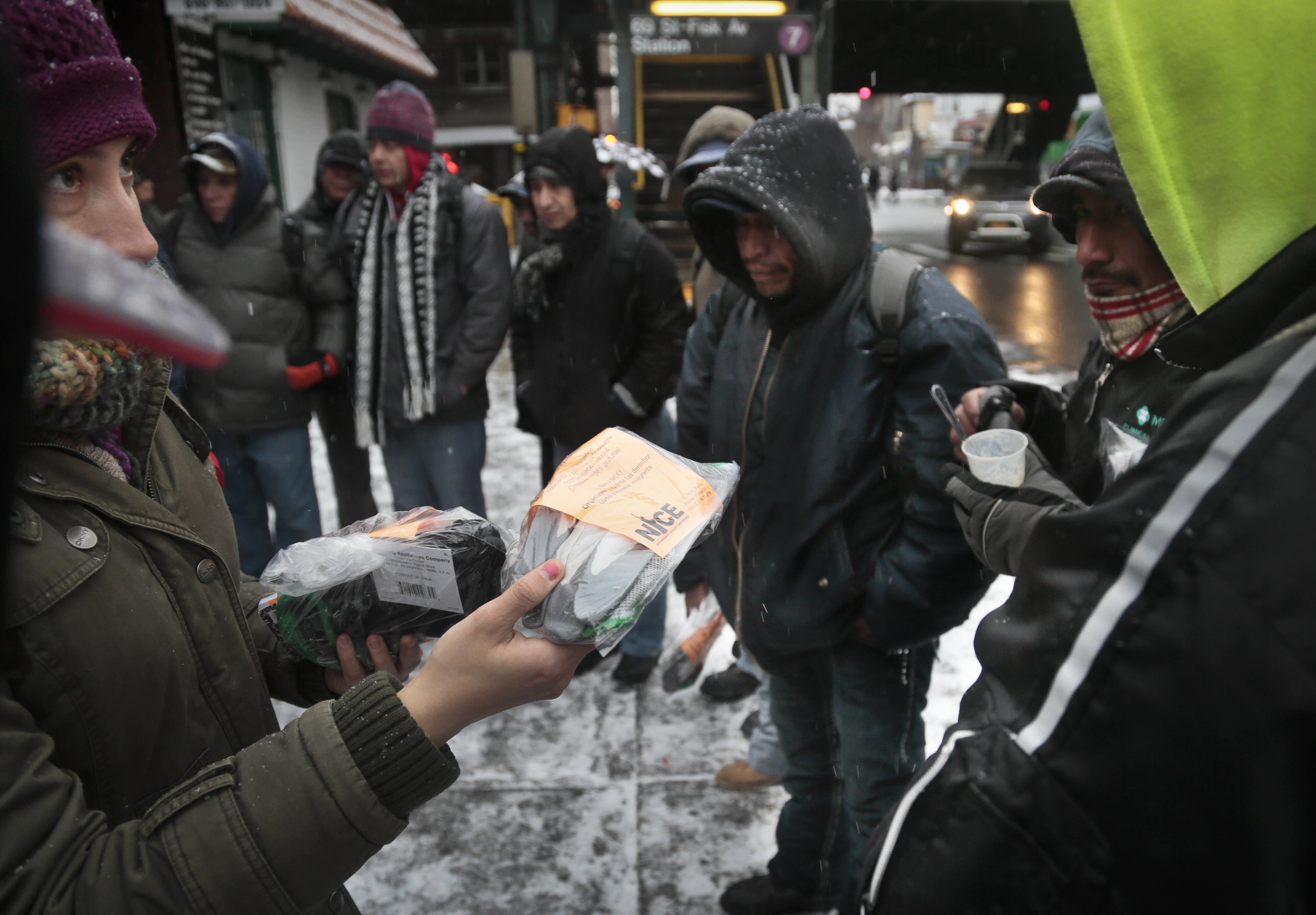 Inmigrantes Unidos en Nueva York. (AP Photo/Bebeto Matthews)