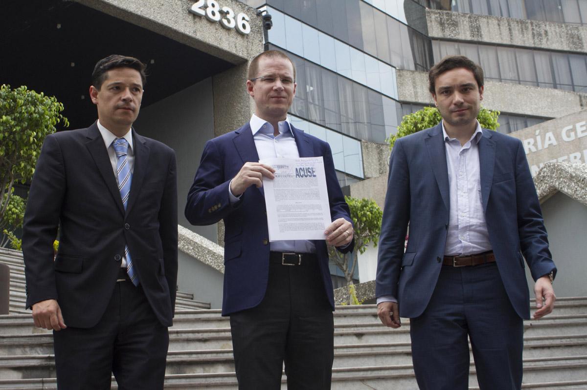 FOTO CUARTOSCURO, Ricardo Anaya, presidente del PAN, presentó la denuncia contra el gobernador por coaccionar el voto.