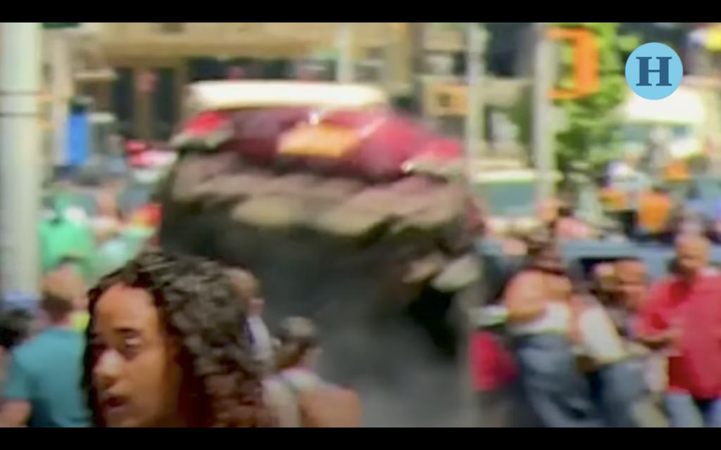 El momento exacto del accidente en Times Square