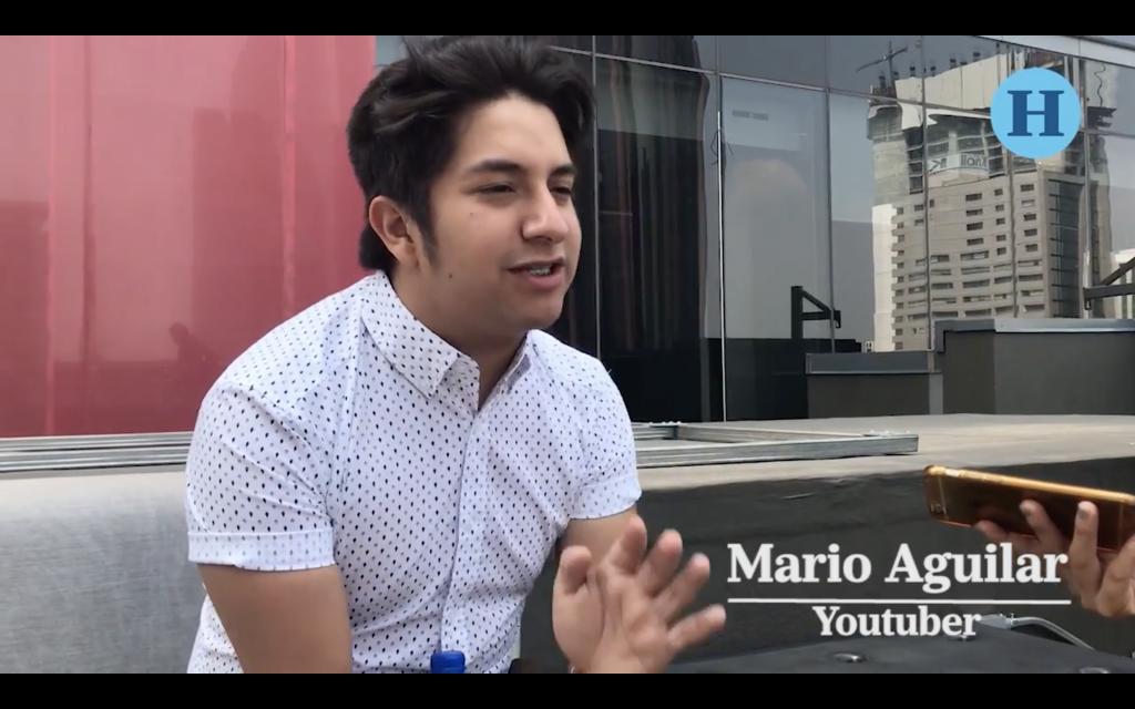 Mario Aguilar, periodista del Heraldo por un día