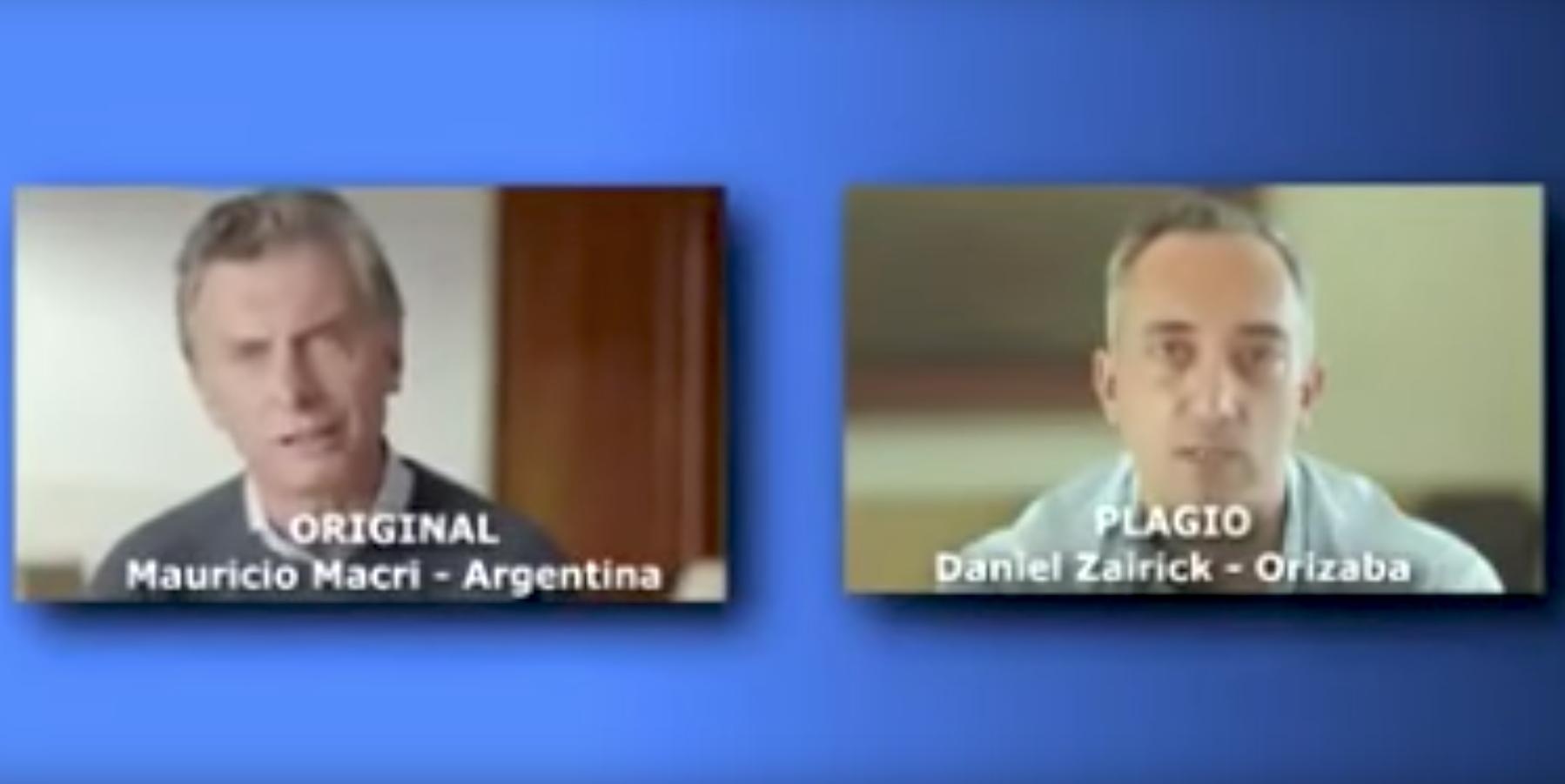 VIDEO: Plagia candidato de Veracruz spot de campaña de presidente argentino