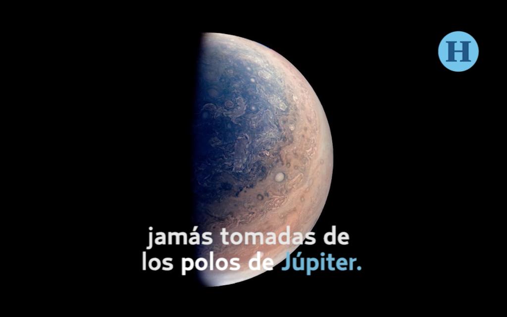 Sonda de la NASA envía imágenes increíbles de Júpiter