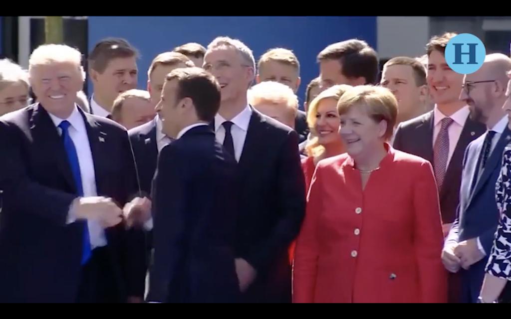 ¿Emmanuel Macron se la aplicó a Donald Trump?
