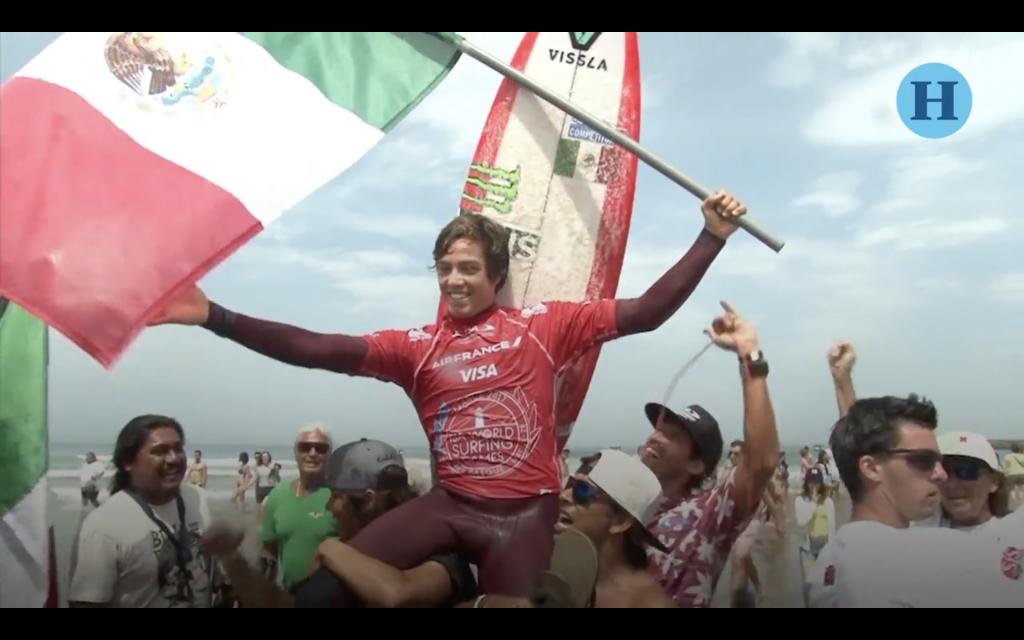 El mexicano Jhony Corzo, nuevo campeón mundial de surf