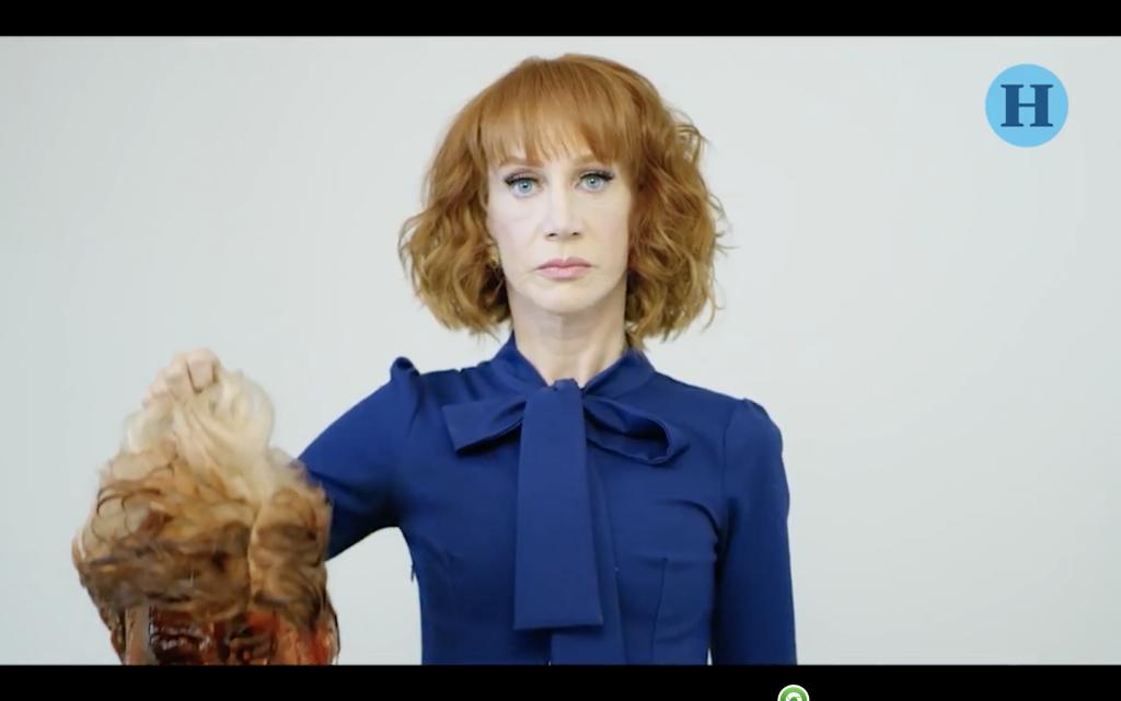 Kathy Griffin sostiene un Donald Trump decapitado y se vuelve viral