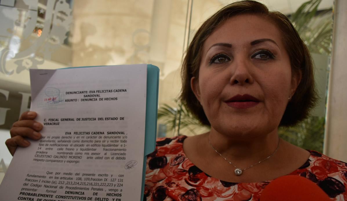 La diputada local de Veracruz, Eva Cadena se dijo víctima de linchamiento político y acusó que Morena incurre en prácticas irregulares de financiamiento