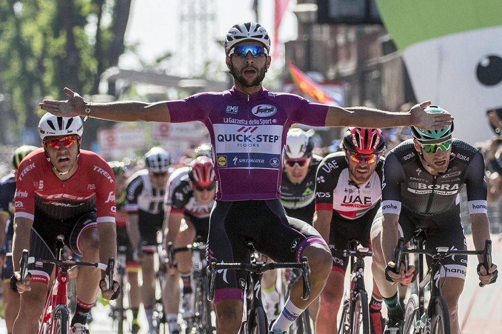 FOTO EFE. Gaviria ya es el colombiano con más victorias en la historia del Giro italiano