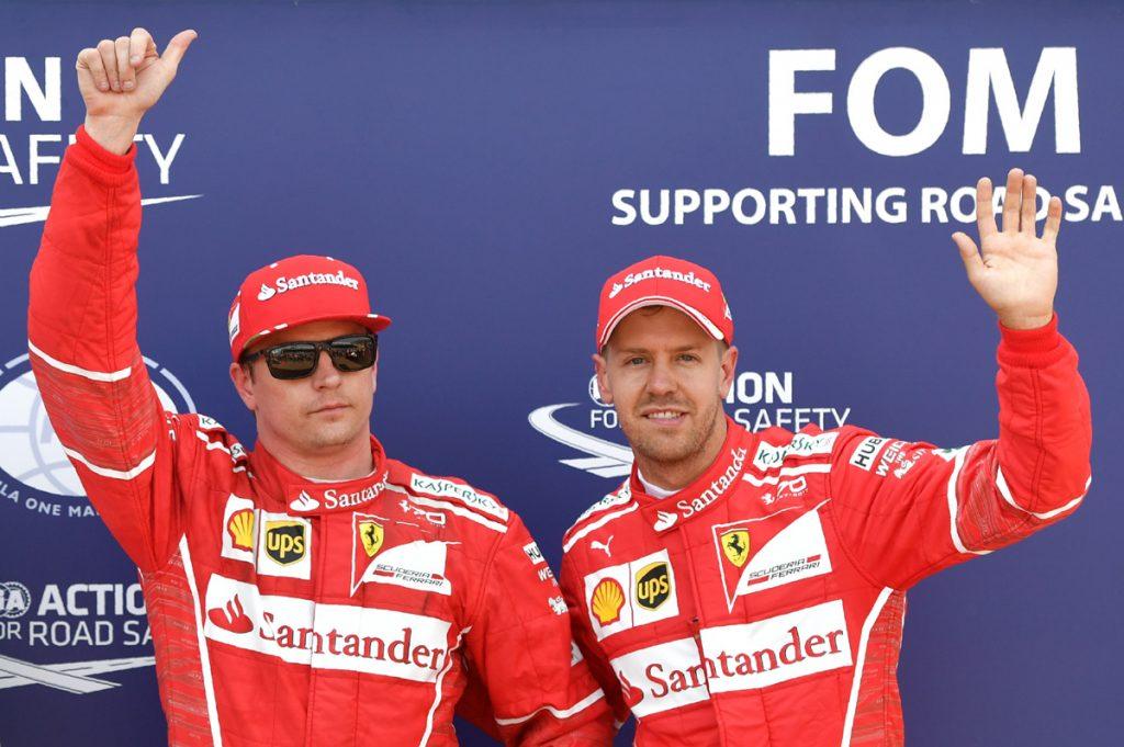 FOTO AFP. Raikkonen y su compañero de Ferrari Sebastian Vettel saldrán 1 y 2