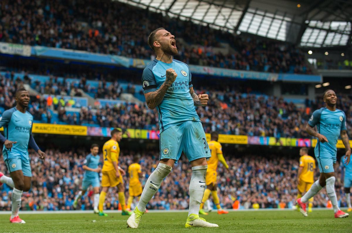 FOTO EFE. El argentino Nicolás Otamendi marcó el quinto gol