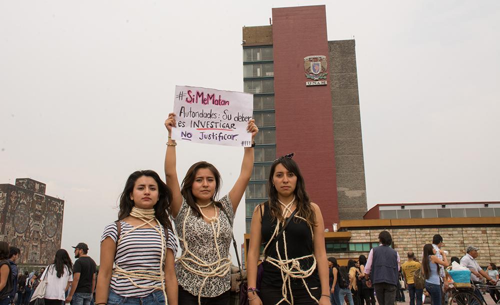 informó quienes conforman el grupo de universitarias expertas en violencia de género que se incorporarán a las investigaciones. FOTO CUARTOSCURO