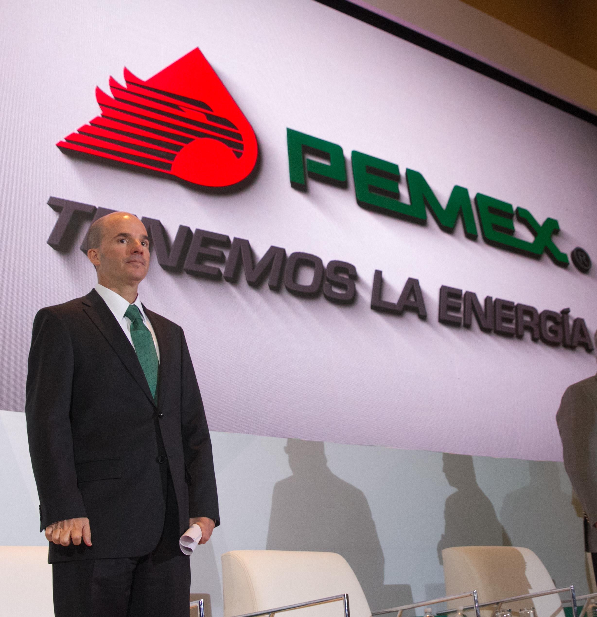 osé Antonio González Anaya, director de Pemex, ofreció el mensaje inaugural del Día del Provedor de Petróleos Mexicanos.  FOTO: MOISÉS PABLO /CUARTOSCURO.COM