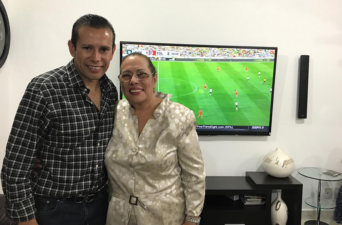 Edna María Soto, madre del árbitro Alfredo Peñaloza