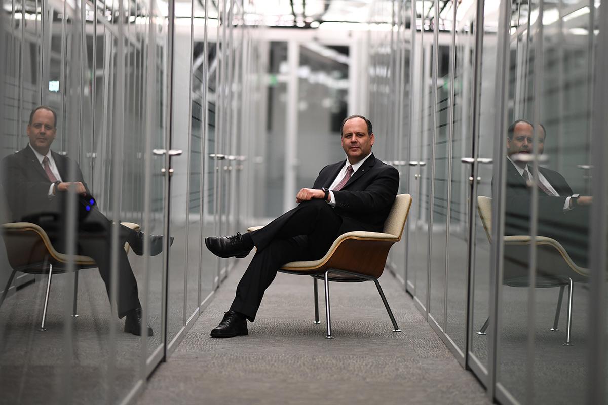 Gustavo de Hoyos, presidente de la Coparmex. FOTO: SAÚL MOLINA