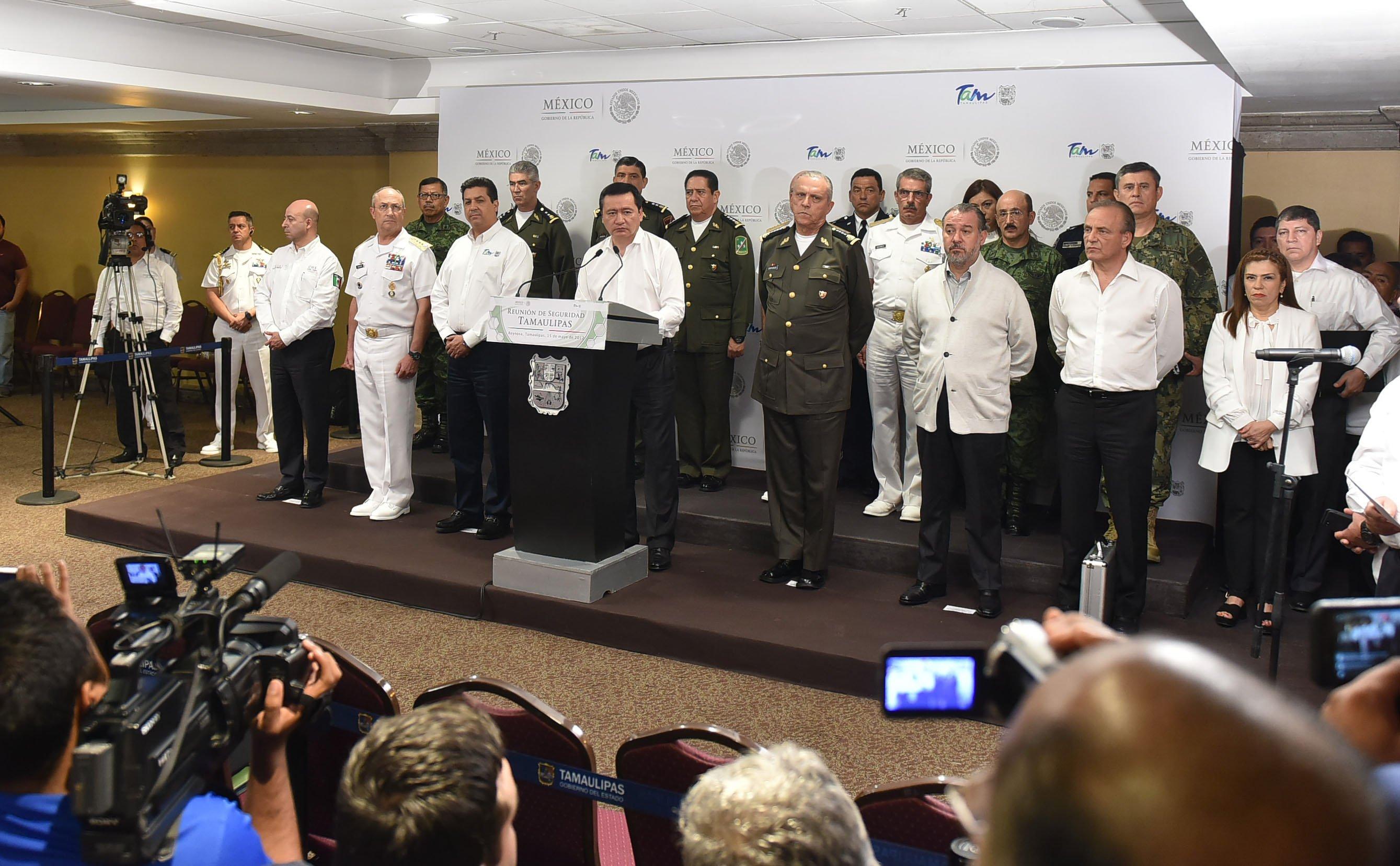Debido a la creciente violencia en Tamaulipas, el gobierno federal implementó una estrategia de seguridad que fue anunciada el 15 de mayo por el secretario de Gobernación, Miguel Ángel Osorio Chong. FOTO: SEGOB /CUARTOSCURO