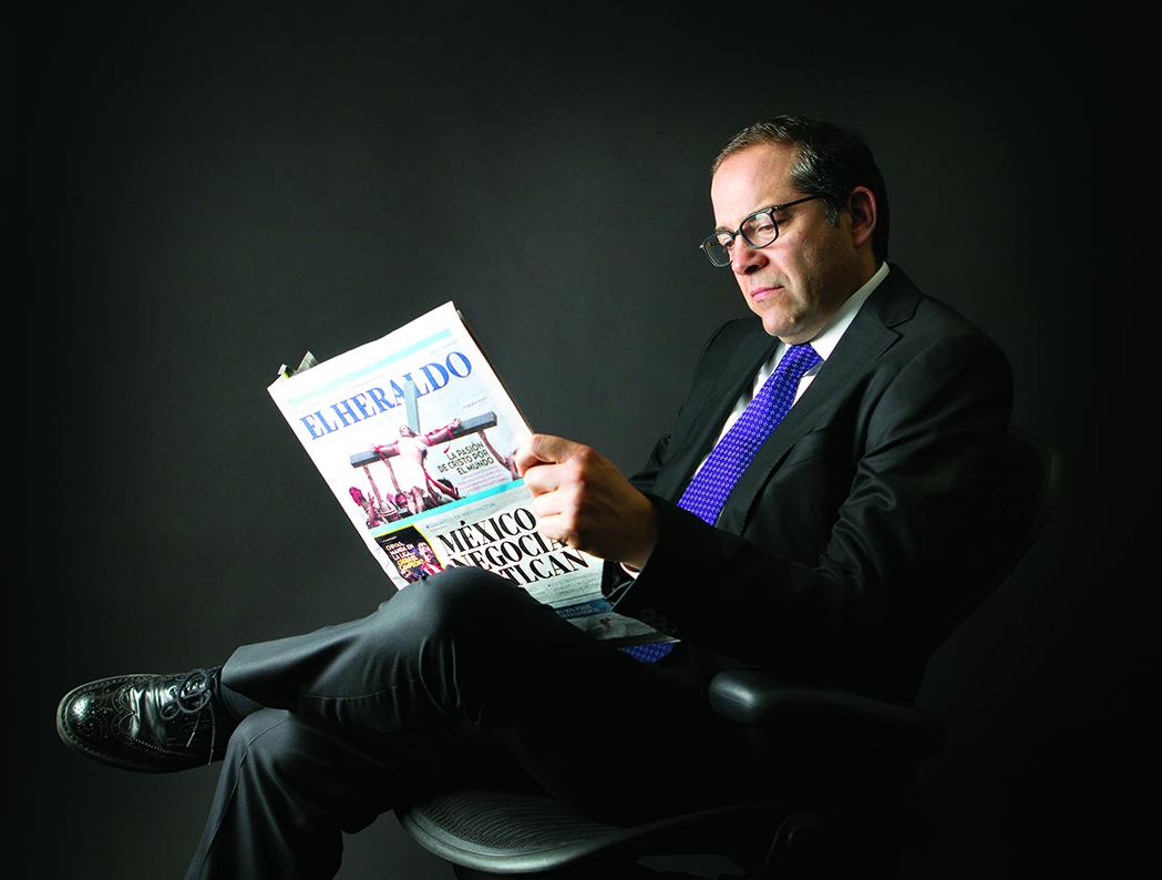 Ignacio Peralta, gobernador de Colima, conversó con EL HERALDO DE MÉXICO.  FOTO: SAÚL MOLINA