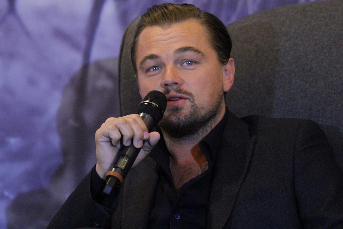 Leonardo Dicaprio durante su visita a México en 2015. Foto:Notimex