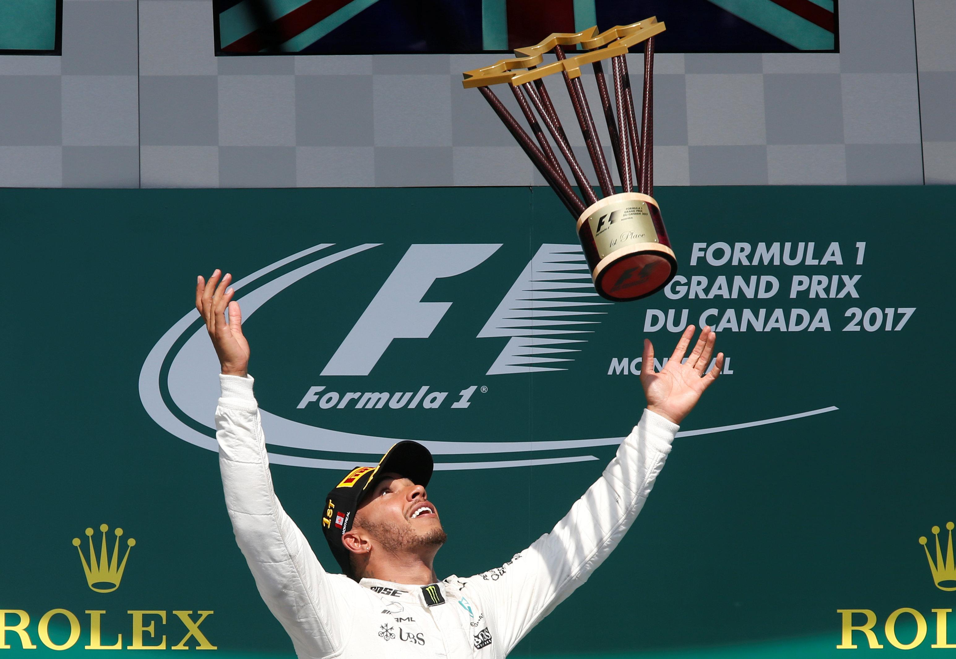 Lewis Hamilton, gana el GP de Canadá; @Reuters