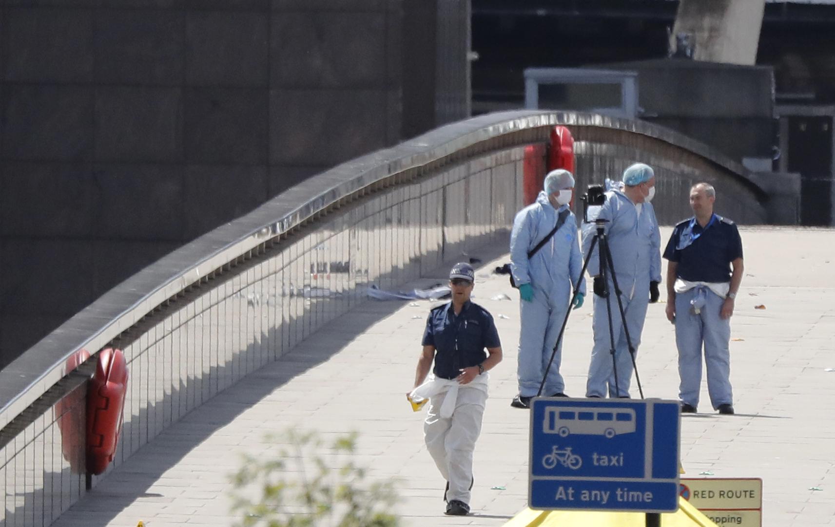 Ataque en el puente de Londres; @AFP