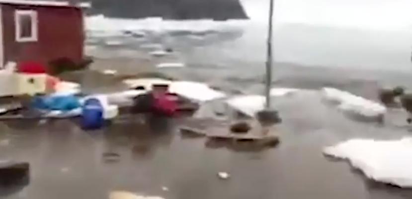 Tsunami azota la región de Nuugaatsiaq, Groelandia
