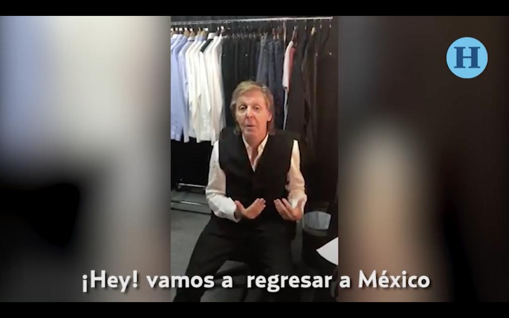 Así anunció Paul McCartney su próximo concierto en México