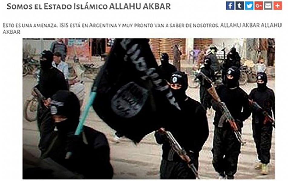 'Muy pronto van a saber de nosotros': amenaza Estado Islámico a Argentina