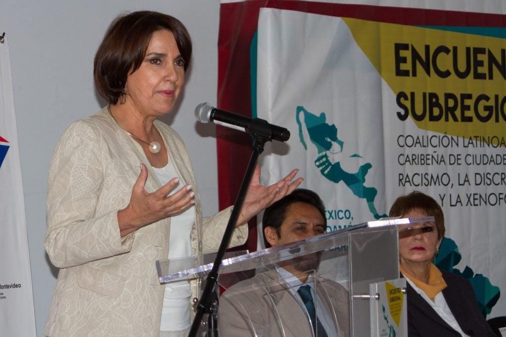 Patricia Mercado Castro, secretaria de gobierno de la Ciudad de México. FOTO: ANTONIO CRUZ /CUARTOSCURO.COM
