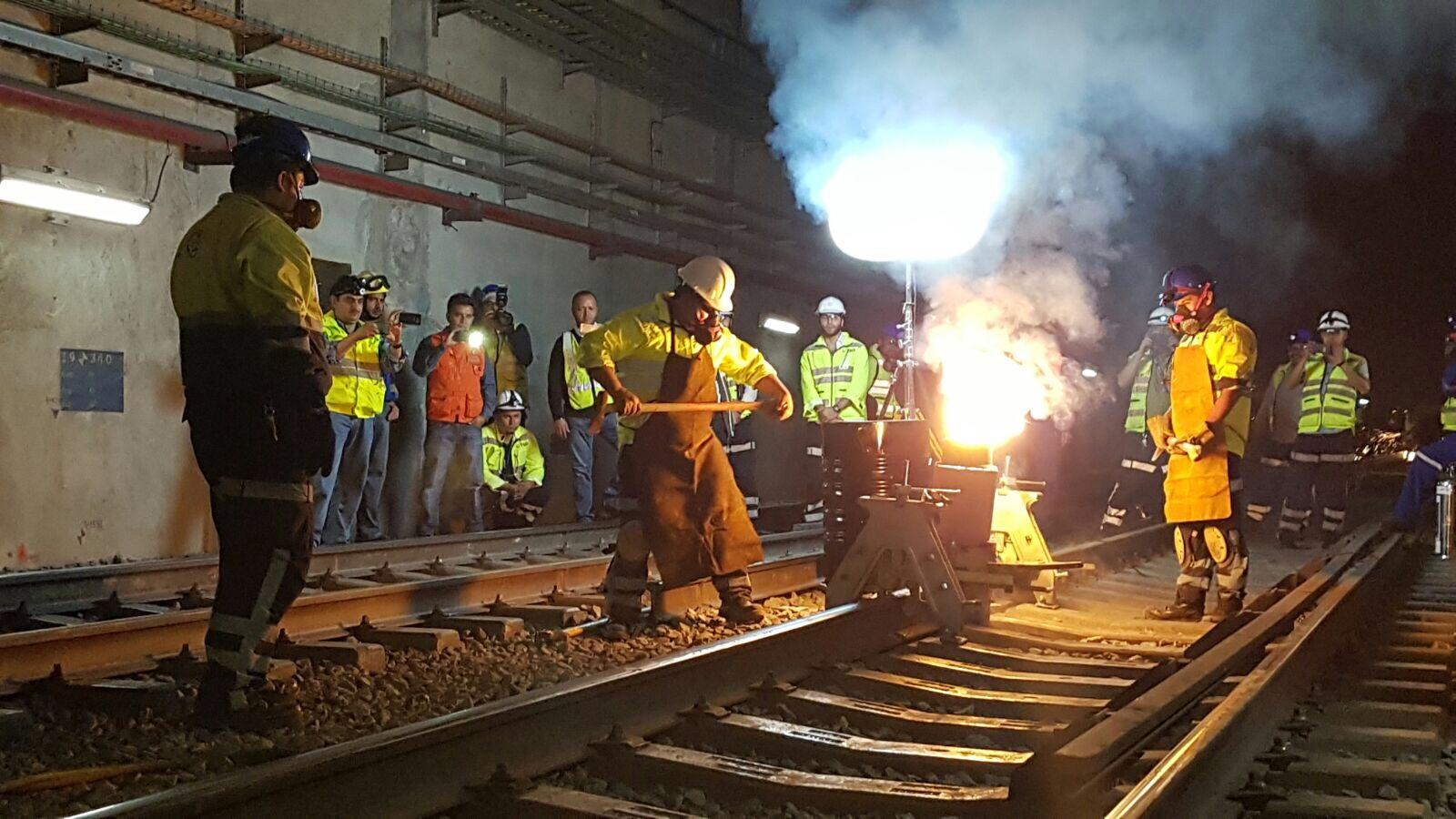 Inician obras de sustitución de rieles en Línea 12 del Metro
