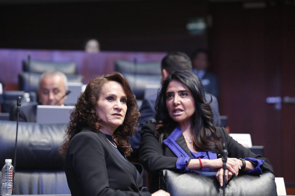 Dolores Padierna y Alejandra Barrales. Archivo. CUARTOSCURO.