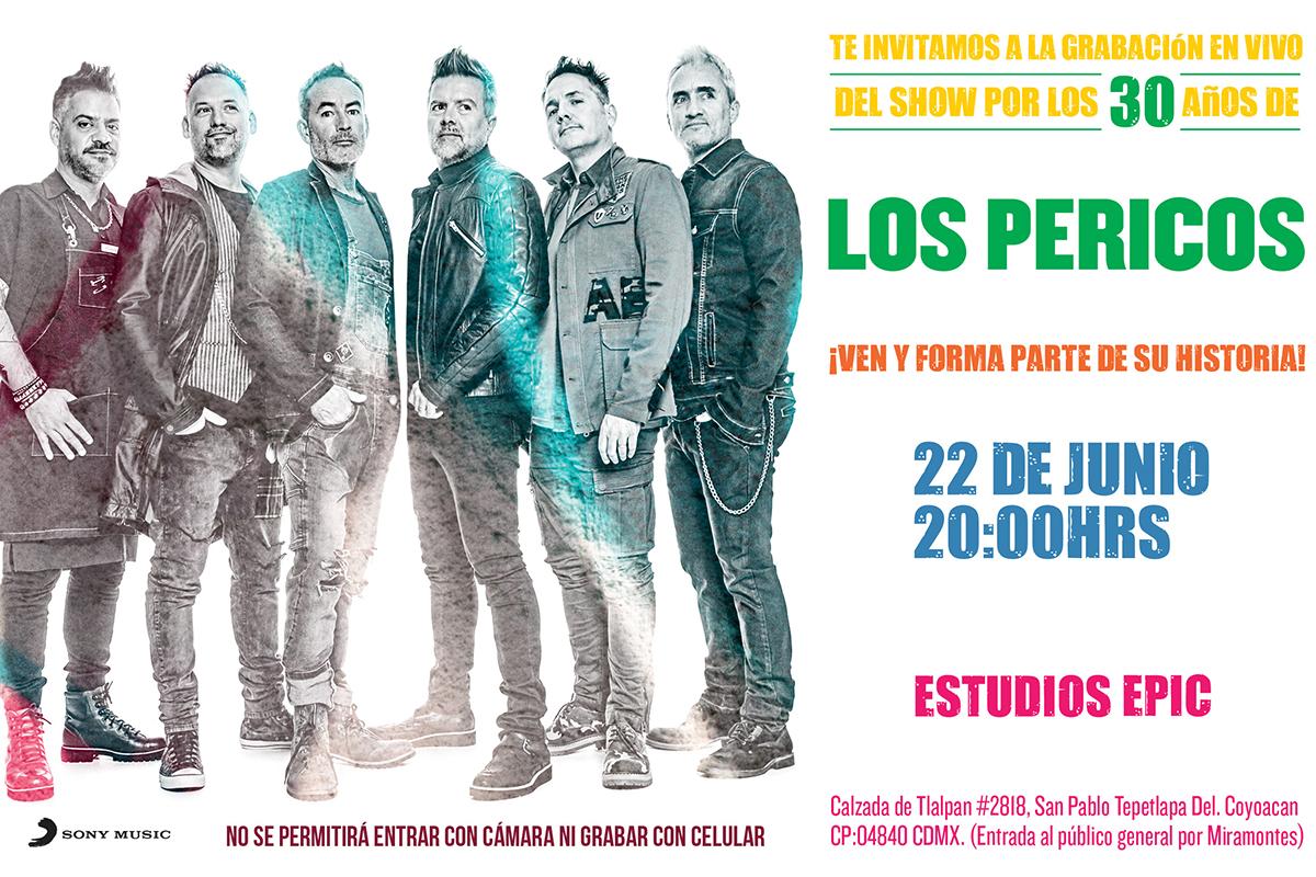Te invitamos a la grabación en vivo con Los Pericos por sus 30 años