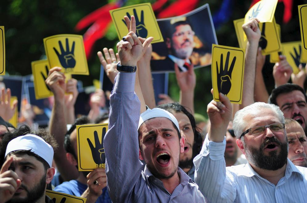 Horda de hermanos musulmanes de Egipto; @Reuters.