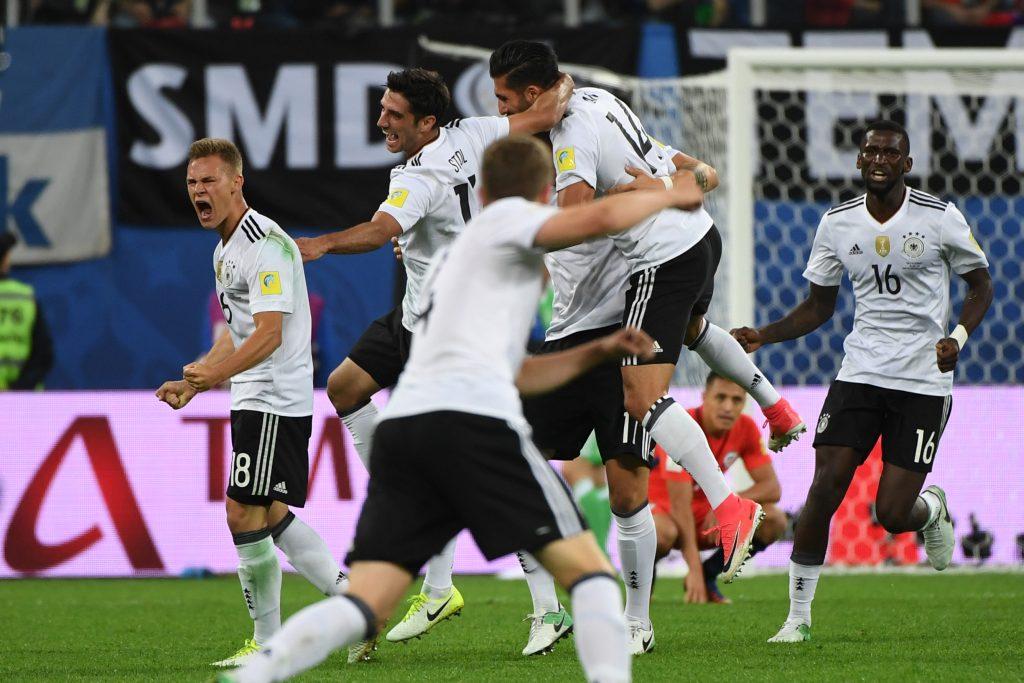 Selección Nacional Alemana, luego de vencer a Chile en la final de la Copa Confederaciones. @AFP