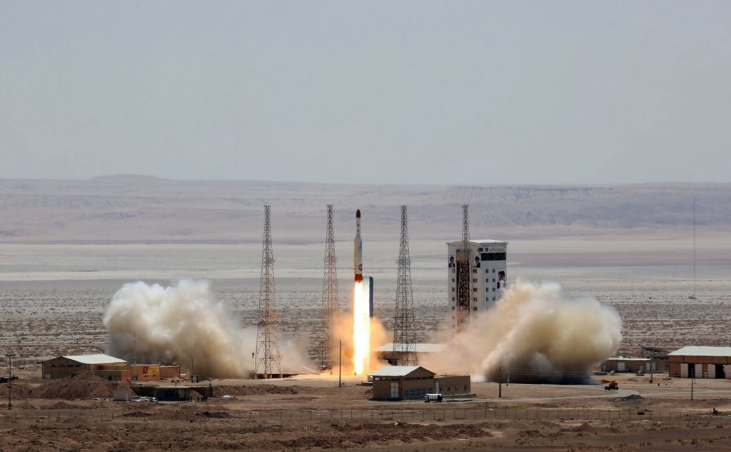 Lanzamiento de satélite en Europa del Este. @AFP