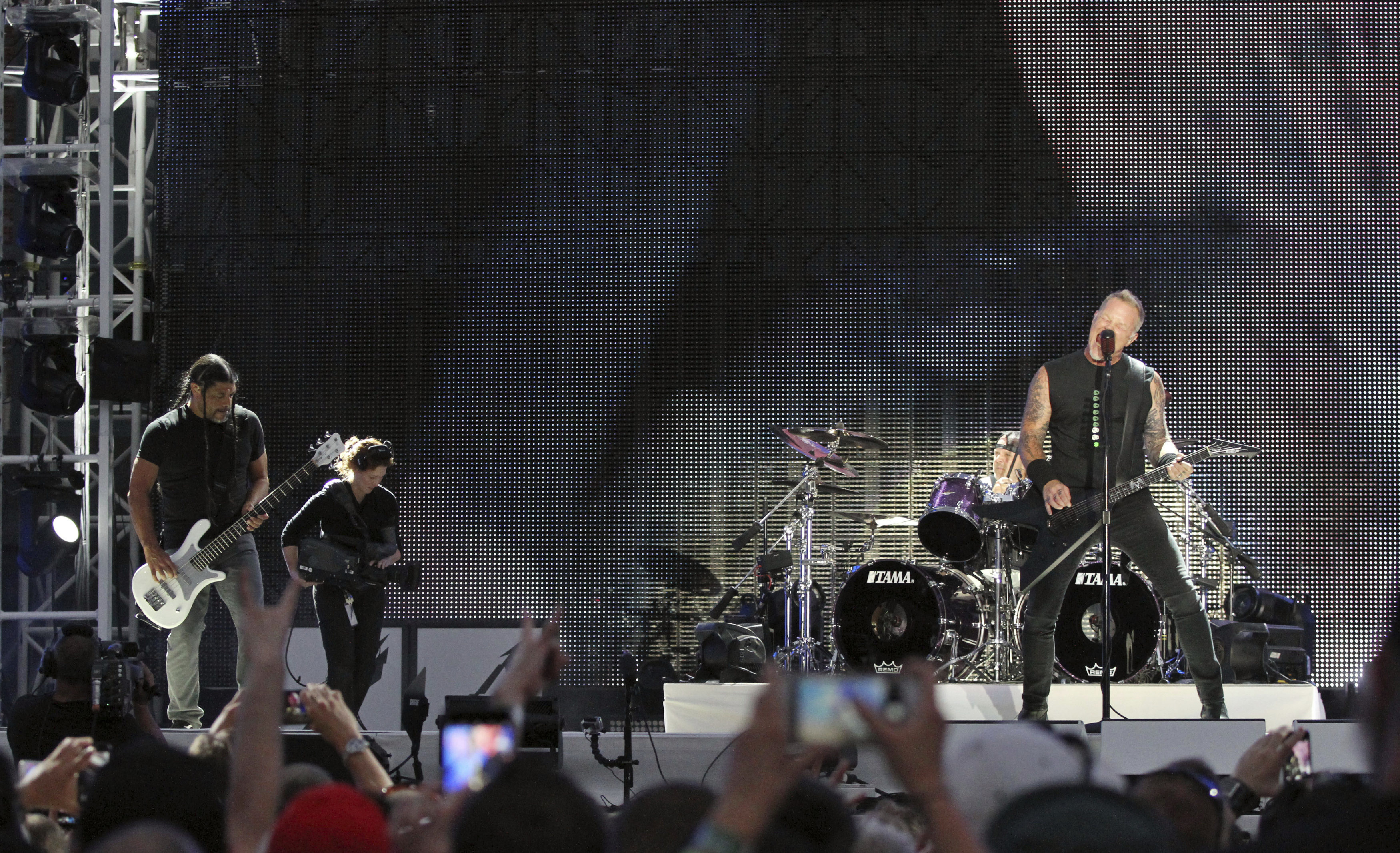 James Hetfield, Lars Ulrich, Kirk Hammett, Robert Trujillo. @Ap
