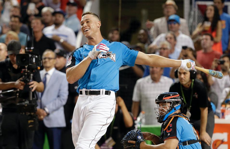 Aaron Judge gana la competencia de Home Runs en el previo al juego de las estrellas del béisbol. @AP