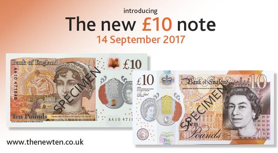 Banco de Inglaterra presenta billete de 10 libras con imagen de Jane Austen