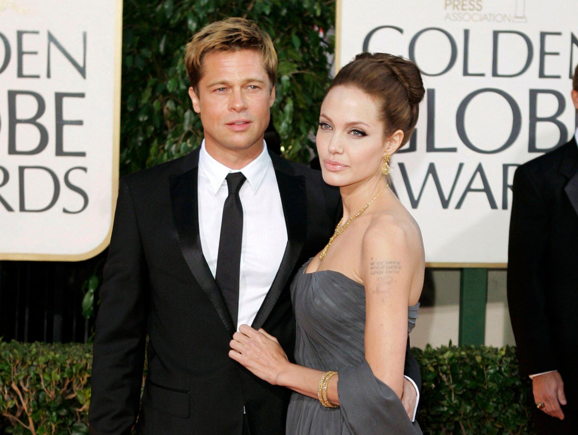 Brad Pitt y Angelina Jolie. @AP