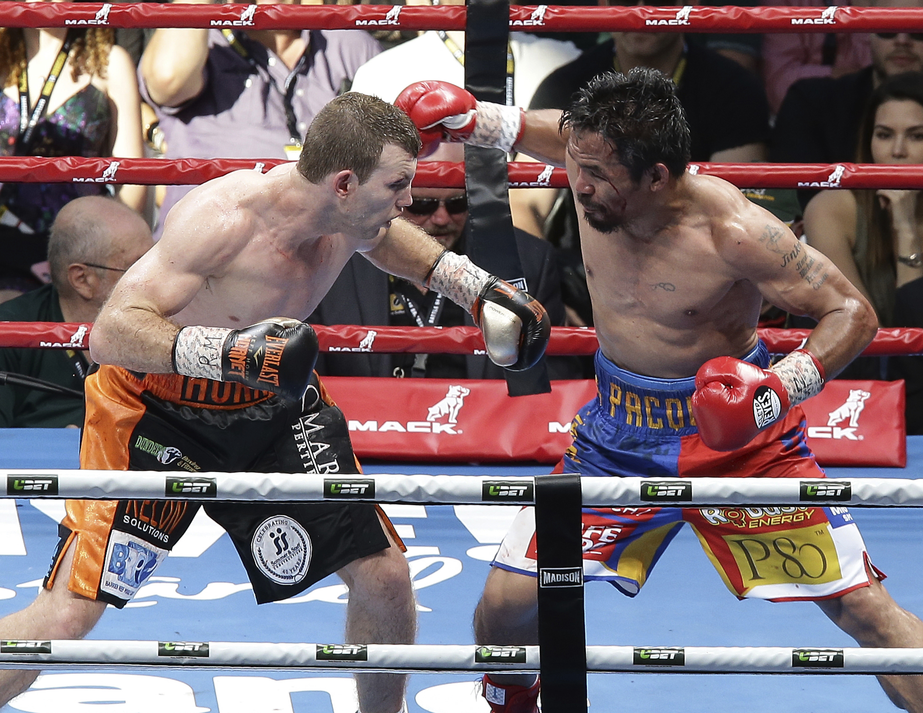 Manny Pacquiao, Jeff Horn. @AP