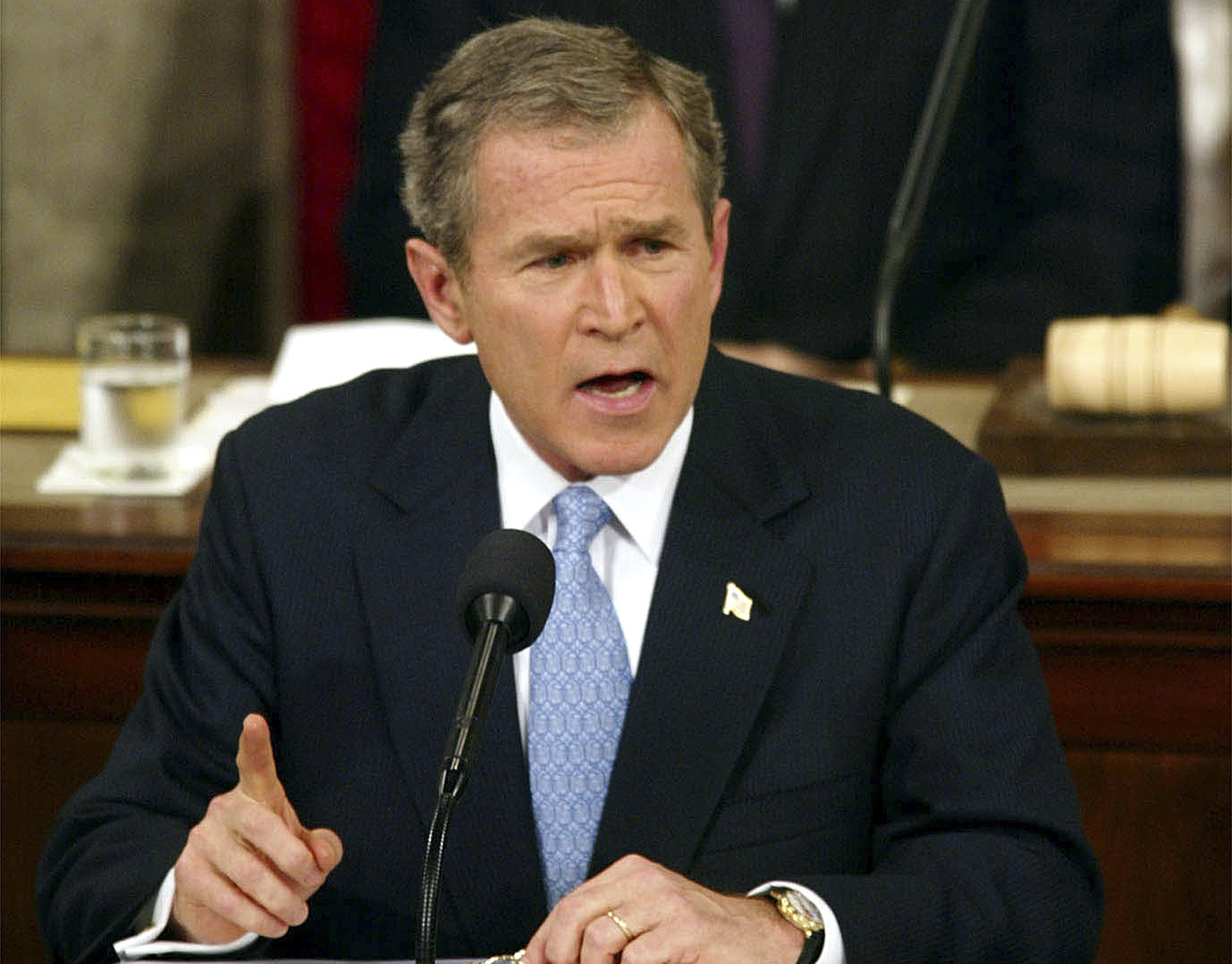 George W. Bush. @AP