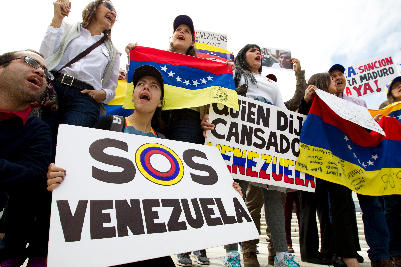 Manifestación en Venezuela. @AP