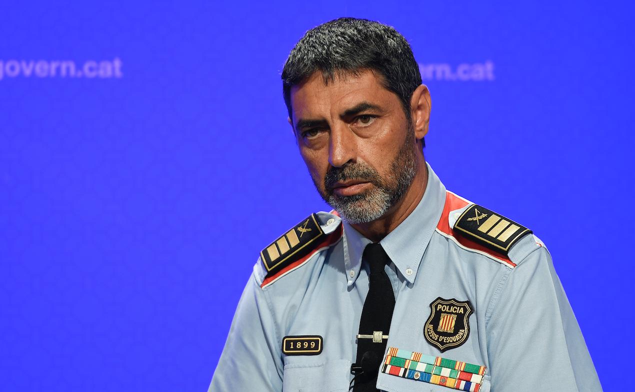 Josep Lluis Trapero, jefe de la policía regional catalana. @AFP